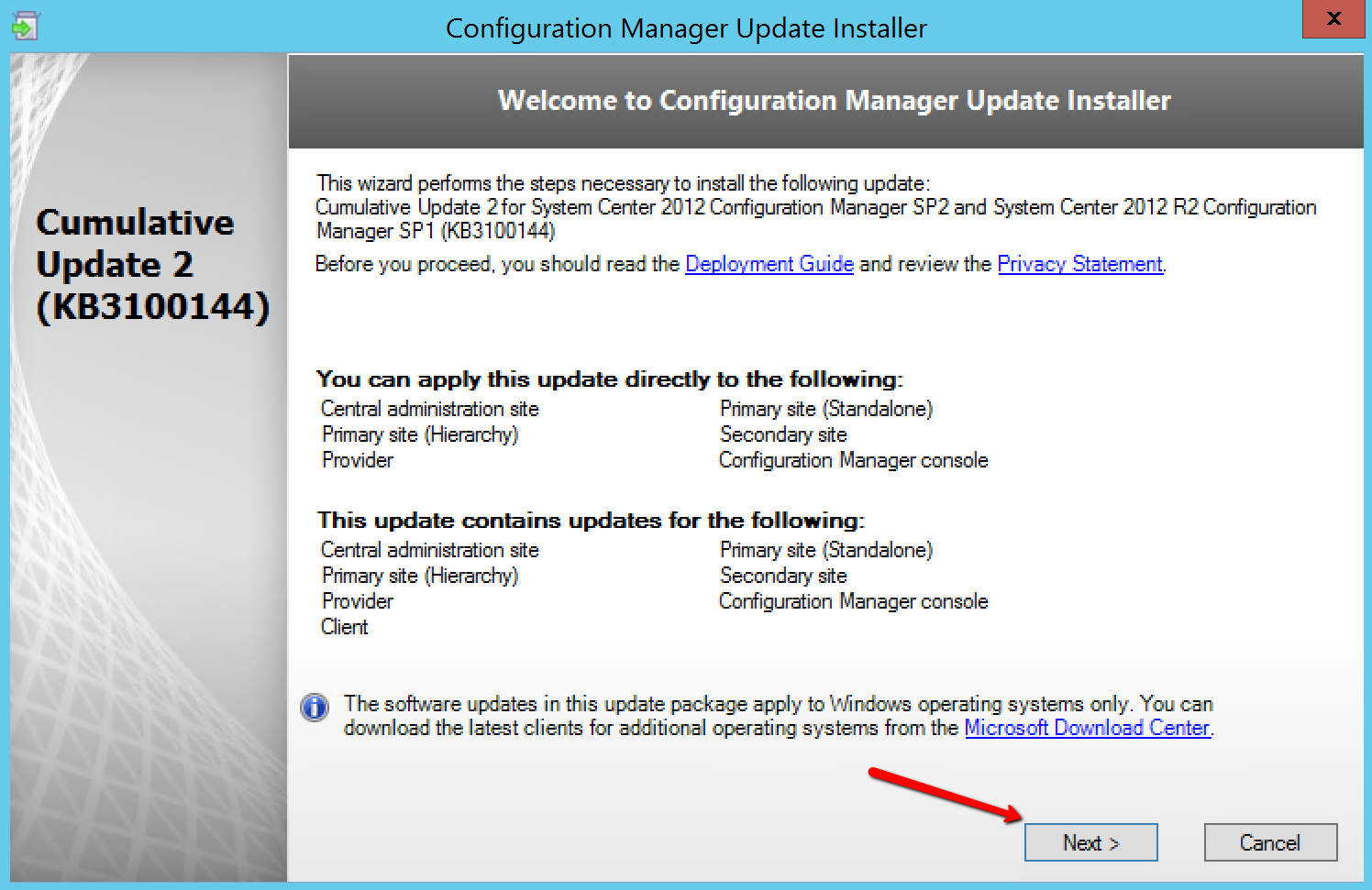 How to install CU2 on SCCM R2 SP1 – Mobile-First Cloud-First
