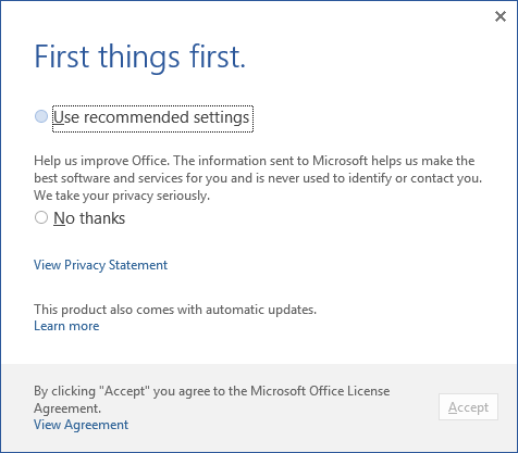 Automating Office 365 Click-to-Run First Use with Group Policy
