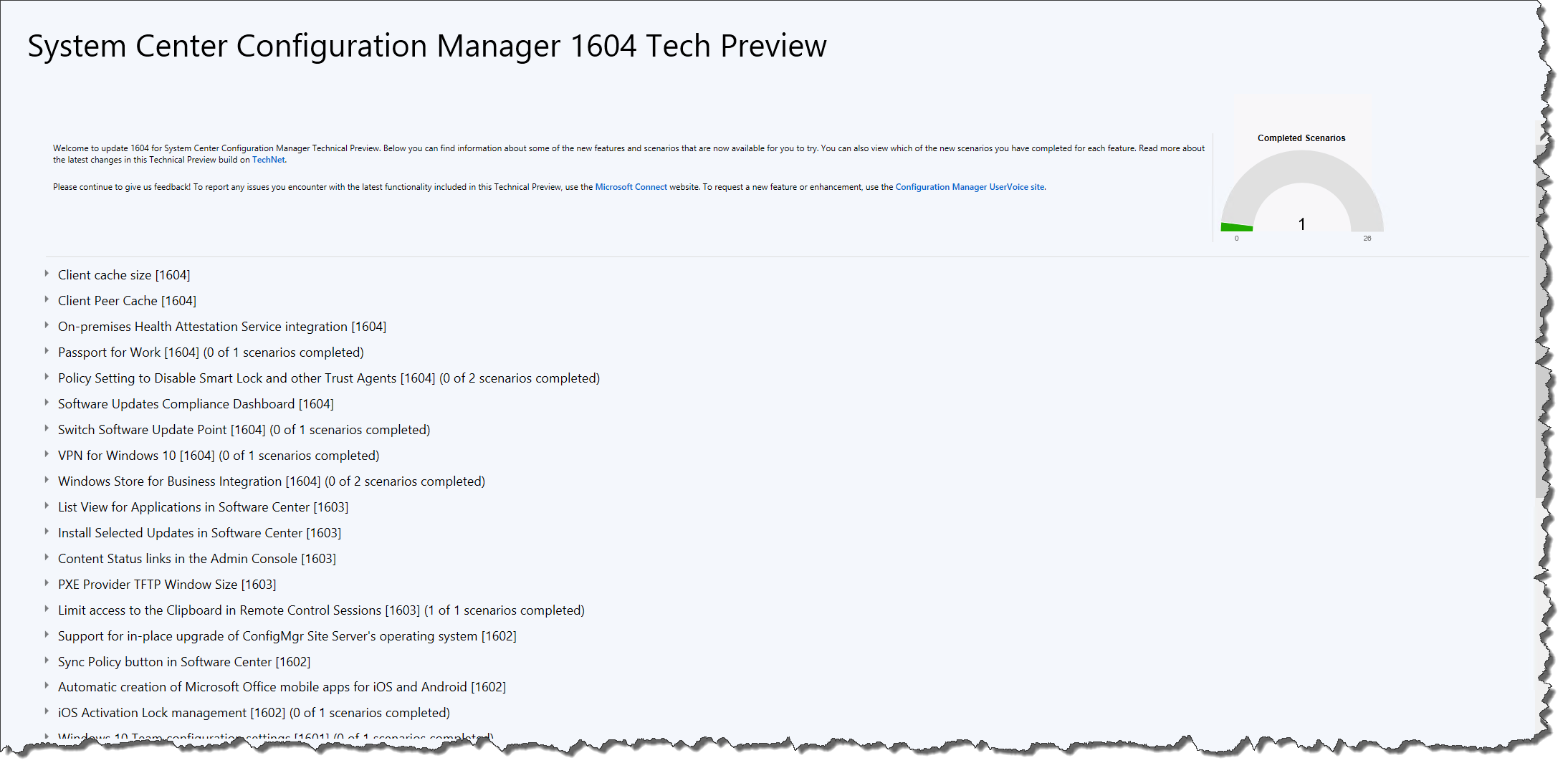 How to upgrade SCCM TP to 1604 – Mobile-First Cloud-First