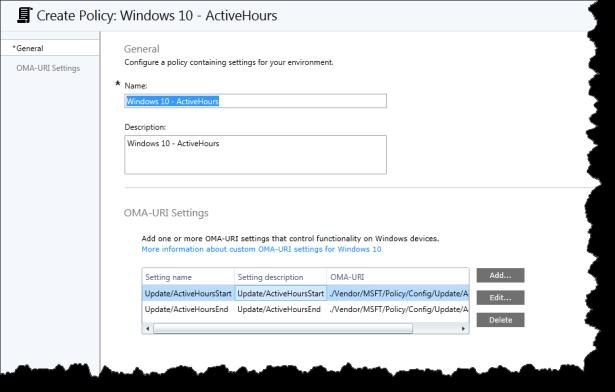 Windows 10 - ActiveHours