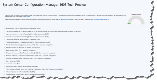 How to Upgrade SCCM Tech Preview – to 1605 – Mobile-First