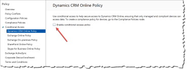Conditional Access to Microsoft Dynamics CRM Online