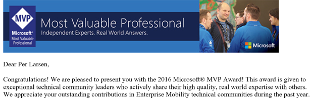 MVP 2016 - Enterprise Moblity