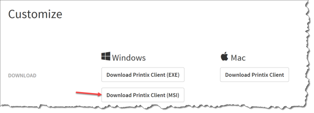 Printix - Client Download MSI