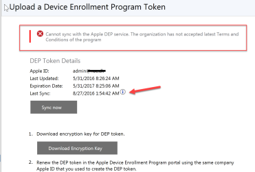 Apple DEP stopped syncing to Intune – Mobile-First Cloud-First