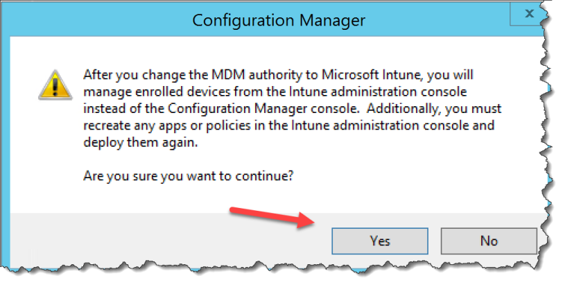 How to change MDM Authority in SCCM CB 1610 – Mobile-First