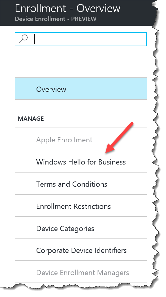 How to setup Windows Hello for Business in the new Intune
