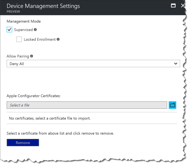 DEP - Device Management Settings