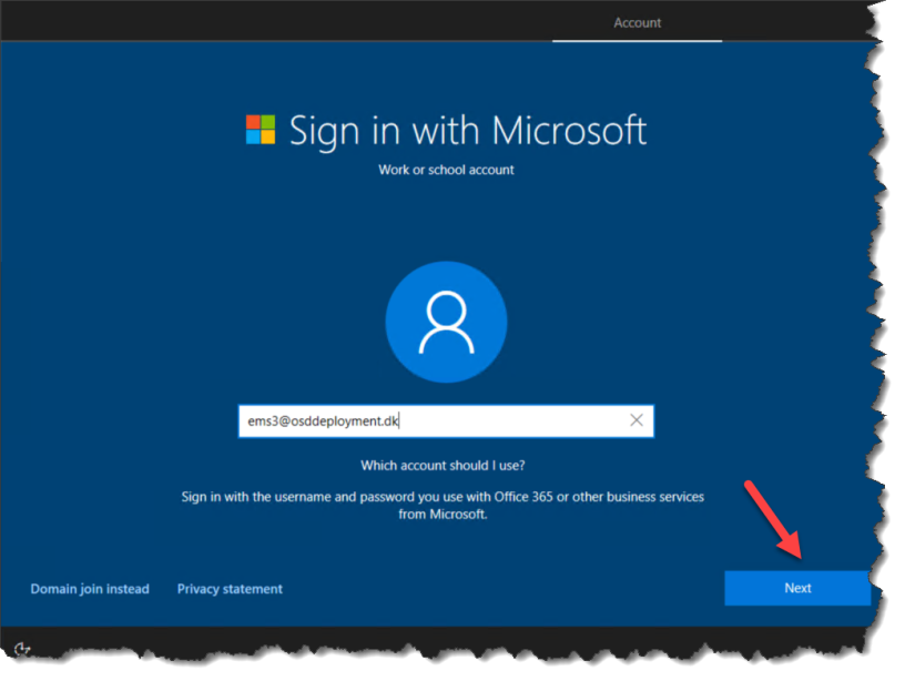 Windows 10 1703 – AzureAD join Out Of Box Experience (OOBE