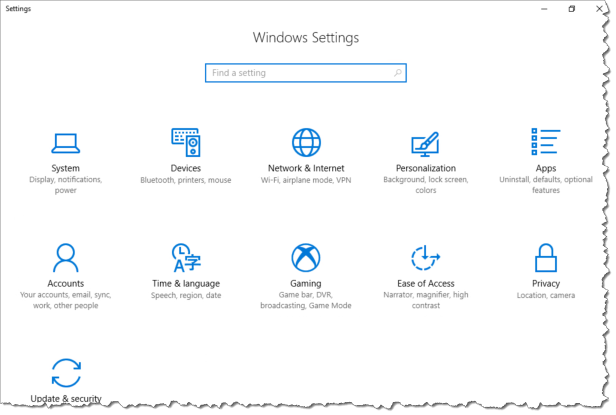 Intune Configure Windows Settings - Before policy