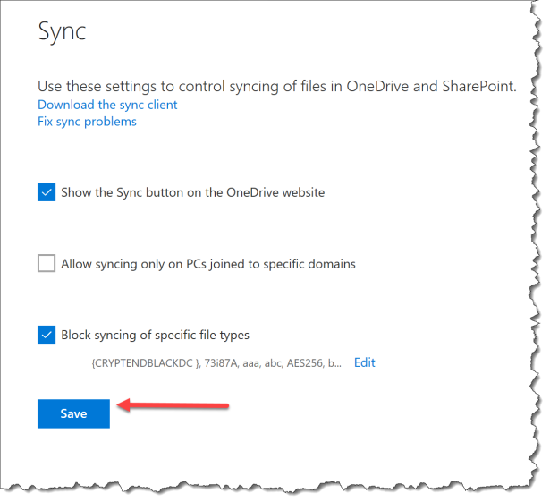 OneDrive - Dont sync Cryptolocker - 05