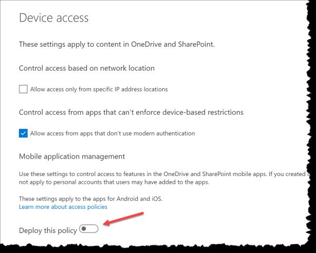 OneDrive Admin - MAM - 07