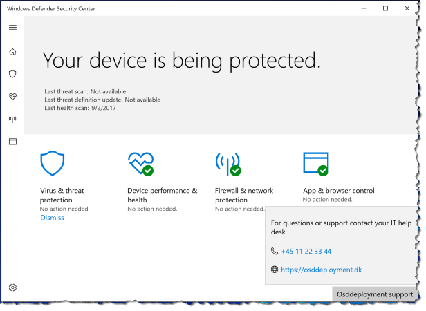 Windows 10 - Configure WindowsDefenderSecurityCenter - UX 03
