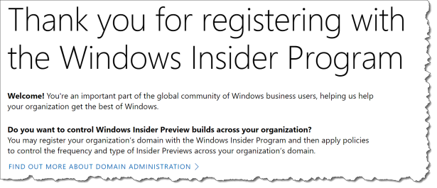 WUfB - Windows Insider - SIgnup - 000