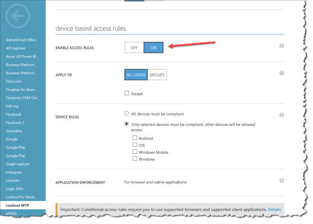Conditional Access - Classic Policies Preview - 04