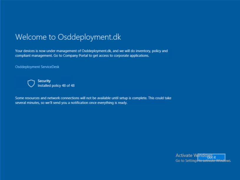Intune Enrollment Status Screen for Windows 10 (Preview