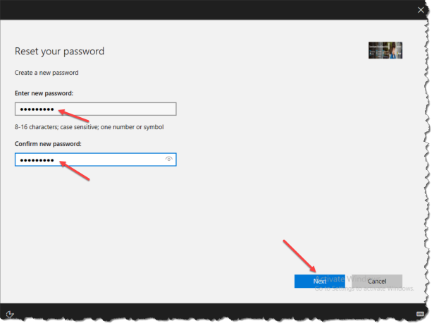 Windows 10 1709 - Reset Password from lockscreen - 06