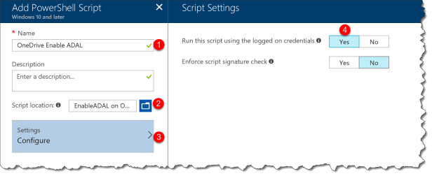 How to silently configure OneDrive for Business with Intune