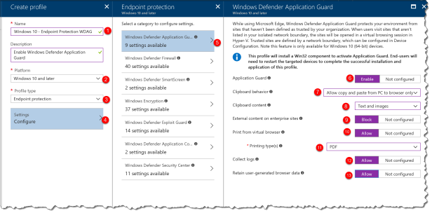 Intune - Enable Application Guard - 02