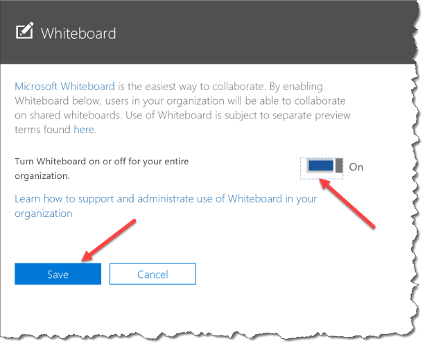 Microsoft Whiteboard Preview - enable 04