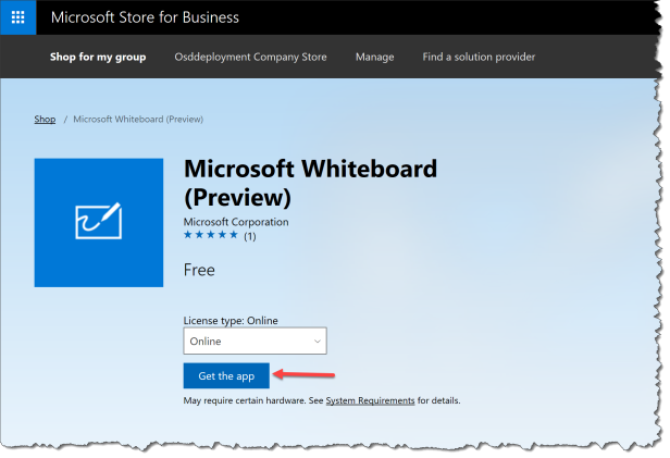 Microsoft Whiteboard Preview - get the app - 01