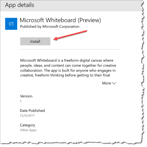 Microsoft Whiteboard Preview - Install the app - 02