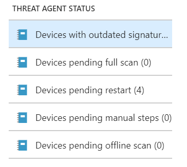 How to report Windows Defender's health and status with