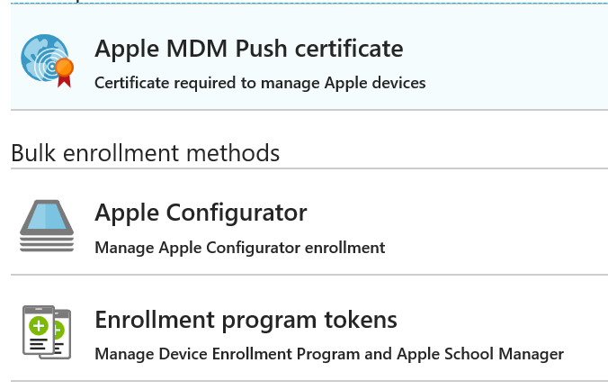 Intune new Apple Enrollment admin experience and features – Mobile