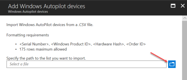 Import AutoPilot in Intune - 03