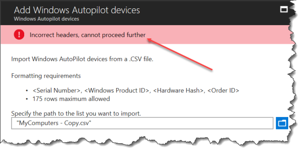 Import AutoPilot in Intune - 09
