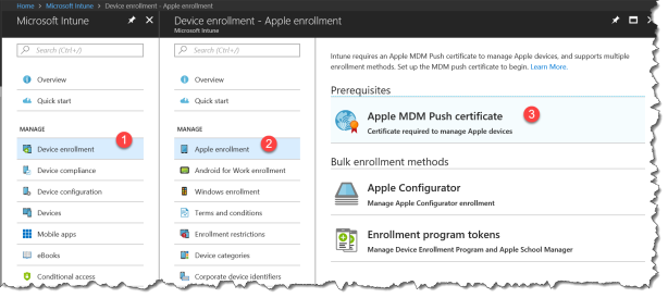 Intune - New Apple enrollment admin expirence - 01
