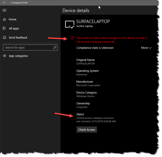 New compliance settings for Windows 10 when using Conditional Access