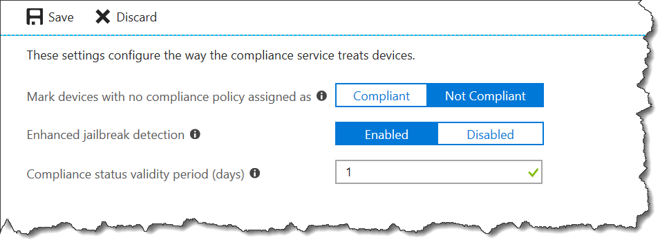 Compliance settings - 03