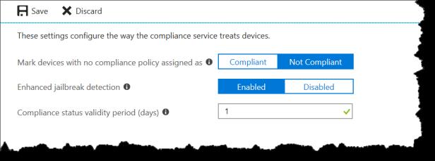 Compliance settings - 03