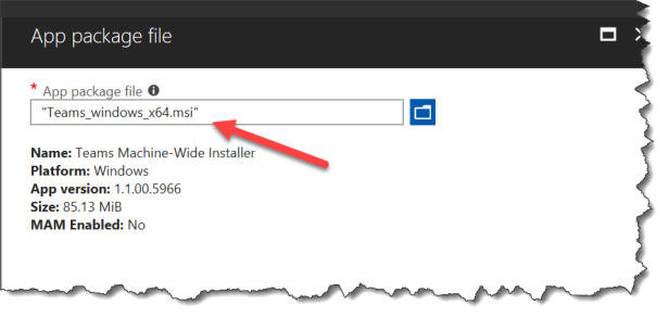How to deploy Microsoft Teams MSI with Intune with Graph API