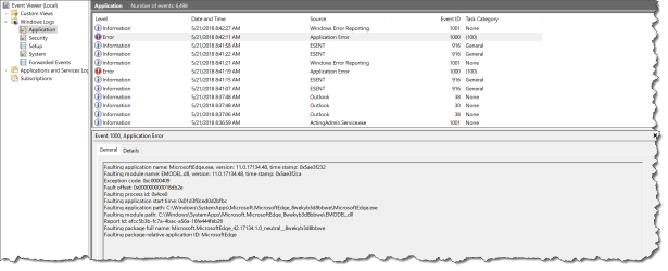 Edge crach on 1803 with WDAC - Eventlog - 01