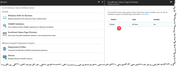 Intune Enrollment Status Page (Preview) - 02