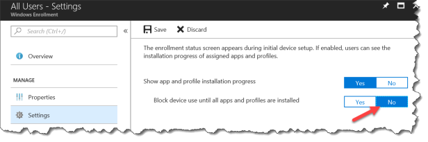 Intune Enrollment Status Page (Preview) - 04a