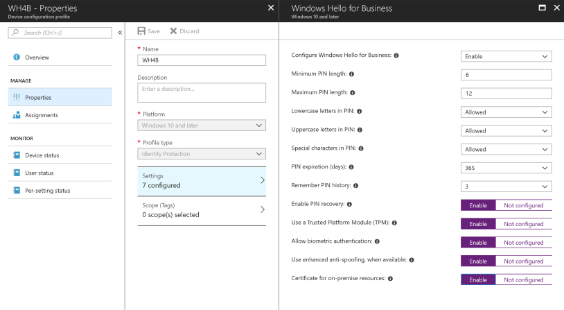How to start a pilot on Windows Hello with Intune – Mobile