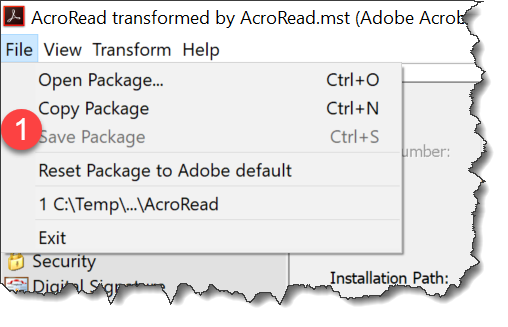 How to packages Adobe Reader for Enterprise Deployment
