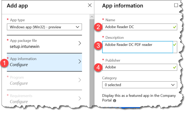 Intune Deployment - Adobe Reader - Win32 - 104