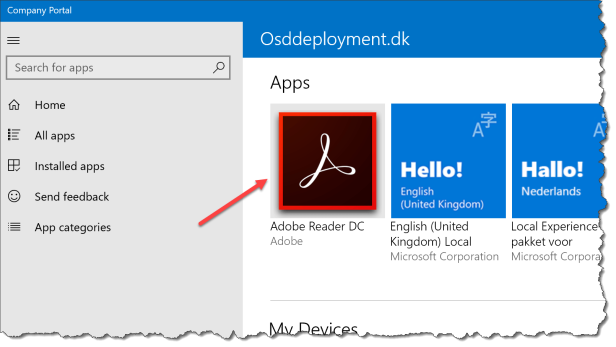 Intune Win32 app deployment - Adobe Reader - 01