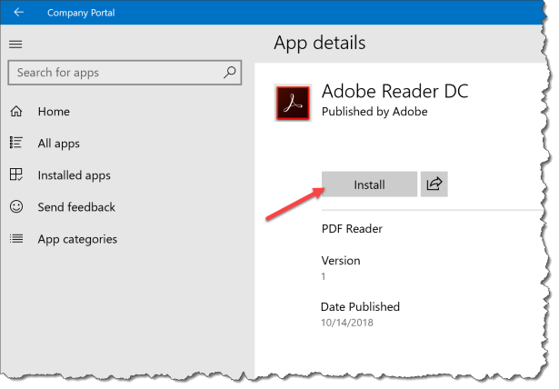 Intune Win32 app deployment - Adobe Reader - 02