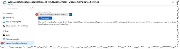 Windows Analytics CommercialID - Update Compliance - 01