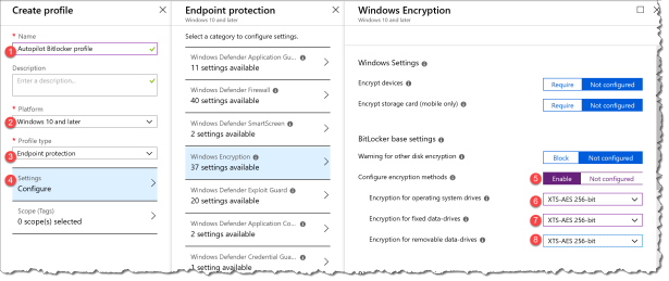 How to delivering BitLocker policy to AutoPilot devices to