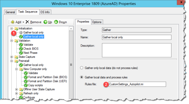 How to deploy a Autopilot device with MDT with out