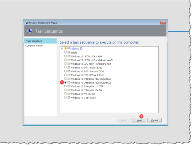 How to deploy a Autopilot device with MDT with out collection the
