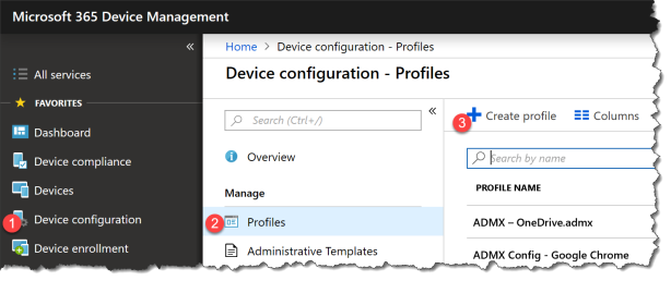 Intune Extension profile - 01