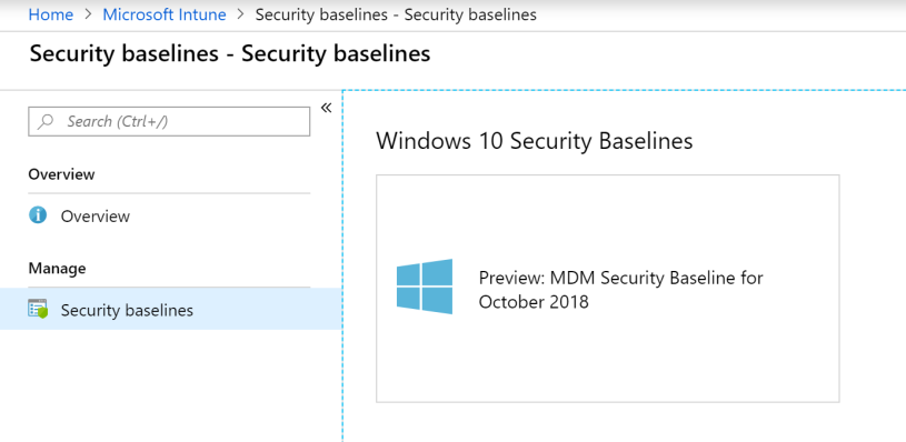 Start using Intune Security Baseline – Mobile-First Cloud-First
