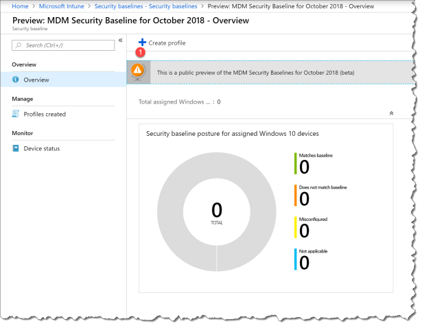 start using intune securitybaseline - 03
